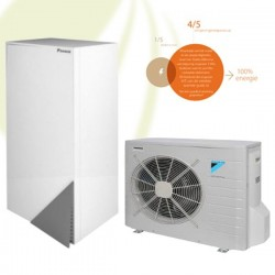 Daikin Altherma LT Warmtepomp 8 kW / 3x 400V. Type: EHBH08C9W & ERLQ008CV3 - Combi-Set