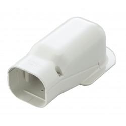 Muur-hoekaansluitstuk Slimduct SW-77 Wit