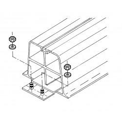 PR-P2 - montageplaatjes voor Plarock opstellingsbalken type SB-350 t/m SB-2000