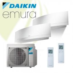 2x Daikin Emura FTXJ-MW + 2MXM50N 5 kW