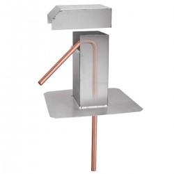 Flexflair 7/8 (dak) doorvoerleiding met 45° bocht