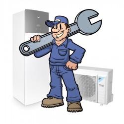 Installatieservice - Split warmtepomp met geïntegreerde boiler